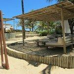 Estrutura de praia do Villas