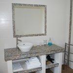 salle de bain de la chambre bleue