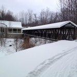 Covered Bridge Leading to Pub