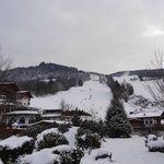 View of the slopes from the hotel grounds and our terrace
