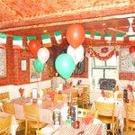 The restaurant in 'festival mood!!'