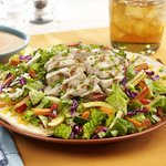 Chicken and fire roasted vegetable salad