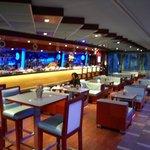 The hotel lobby bar/restaurant