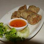 Deep fried Thai-chinese dumpling appetizer