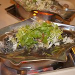 Chinese style steam Goby fish. (aka- Soon Hock fish)