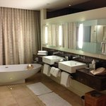 Sink and Bath Area of a Suite on a Curve