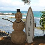 Sand Snowman greeting