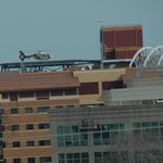 MedEvac on heliport Anne Arundel Medical Center