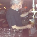 bar tender lucho! pilsner micro brew