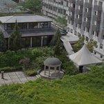 Vue du restaurant japonais depuis la terrasse...