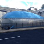 I didn't have time to investigate, but it was apparently an outdoor indoor pool bubble...in Janu