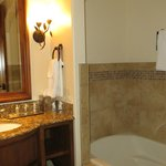 The bathroom and large tub