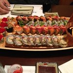 Left, then top to bottom: Volcano Roll, Flying Dragon, Kalbi, Las Vegas, and Special Rolls