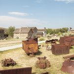 Mining equipment at Bannack