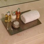 Toiletries By the Bathtub