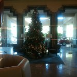 Christmas tree front lobby area