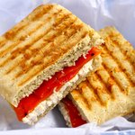 Roasted Bell Pepper and Ricotta Panini
