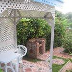 BBQ place in garden