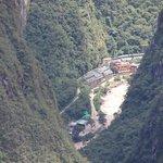 Hotel view from Machu Picchu