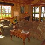 Sunset cottage living room
