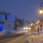 devant le gîte pendant la tempête de neige de janvier 2013
