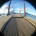 Public deck at Panajachel - 6:00 am.