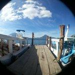 Public deck at Panajachel, about 8:30 am.
