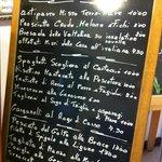 Sample Menu at the Hotel Montallegro hotel