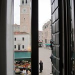 View from our room onto the Piazza S. Maria Formosa