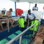glass bottom boat ride - complimentary at Sandals Negril