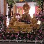 Golden statues Wat Chalong