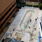 Outdoor lazy river under construction