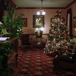 Lobby at Christmas time.