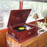 Old Record Player in the Yacht