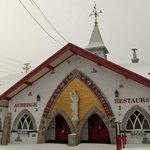 inn and restaurant across from basilica - open in summer