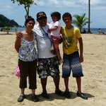 My family at Maracas Beach