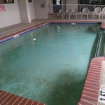 Terribly Cold indoor heated pool...joke