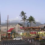 From our lanai towards the shopping center