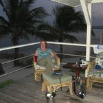 the deck of our cabana