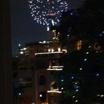 Fireworks on New Years Eve from our 5th floor shared balcony