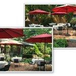 Outdoor dining. Back garden