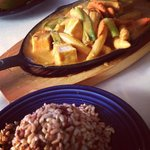 sizzling tofu with peanut sauce