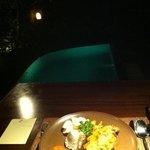 Dinner mit einem Ausblick..