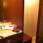 vanity mirror and decent size closet
