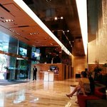 Hotel lobby area. Only concierge is here. Reception is at Level 5.