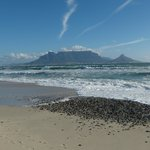 View of Table Mountain from nearby beach