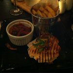 Grilled Chicken Breast With a Pizzaiola Sauce & a bucket of Homemade Chunky Chips
