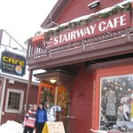 outside stairway cafe