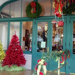 Front Doors of the Hotel At Christmas 2012