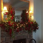 Fire place in Citrus Room Christmas 2012